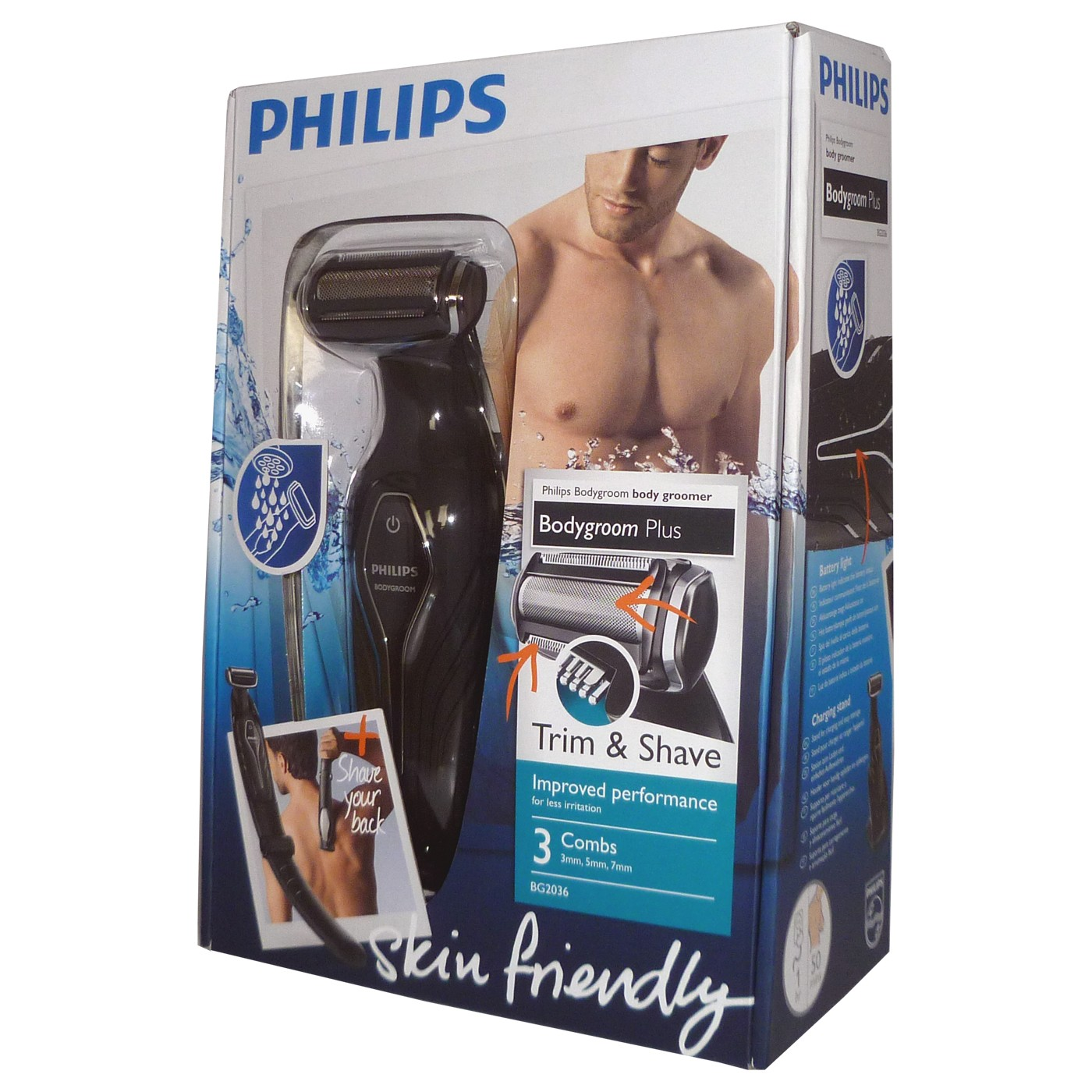 מגה וברק מכונת גילוח לגוף הגבר פיליפס PHILIPS | מכשיר להסרת שיער לגברים UB-15